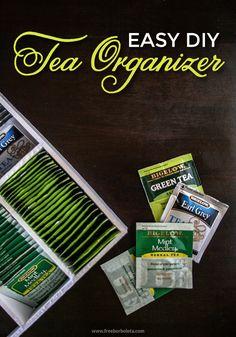Easy DIY Tea Organizer with Bigelow Tea #AmericasTea #shop #cbias