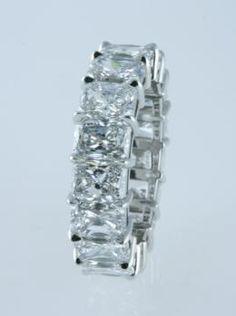 London Jewelers Radiant Cut Diamond Wedding band