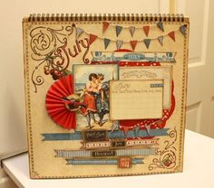 Make your own glittery and fantastic July page with @Denise H. H. H. Hahn's tutorial! So much fun! #graphic45 #tutorials