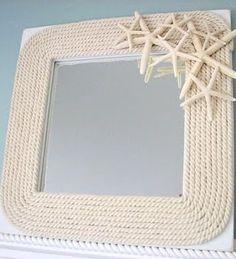 beautiful neutral Nautical Mirror