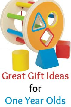 Great gift ideas for one year olds - Love old-fashioned toys for creative play.