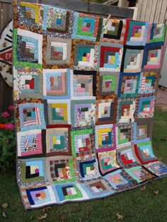love log cabin quilts