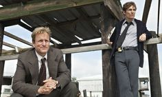 True Detective, starring Woody Harrelson as Martin Hart (left) and Matthew McConaughey as Rustin Cohle. Photograph: HBO