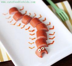 Caterpillar Hotdog #very #hungry #caterpillar #birthday #party #theme #buffet #decorate #book #child #children #kid #toddler #baby #hotdog #food