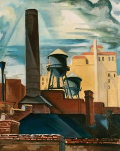 Emil Ganso (1895-1941) - New York Rooftops, 1935