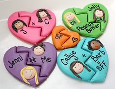 Best friend sugar cookies for Valentines Day #holiday #food