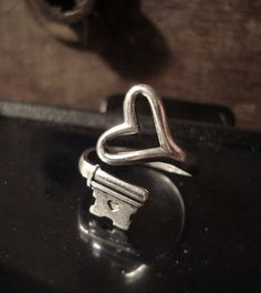 Sterling Silver Love Valentine Sale Steampunk by ParadiseFindings, $18.99