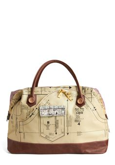 The Holding Pattern Overnight Bag, from ModCloth.  Quilters Gone Wild overnite bag.
