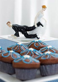 A funny cake topper