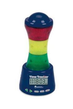 Time Tracker - It's never been easier...or more fun to keep kids on track with this unique lighted electronic timer. You can easily program green, yellow and red sections and six sound effects to indicate that time is running out. With 180viewing, it teaches time management. Perfect for: Study sessions, Projects, Tests, Experiments, Practice sessions, Classroom Assignments, Cooking, Hearing impaired and hundreds more uses!