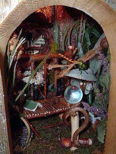 Inside a faery home.