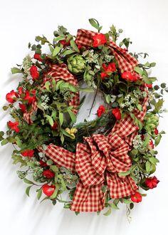 Front Door Wreath, Spring Wreath, Bird Nest, Summer Wreath, Country Wreath, Primitive Wreath, Country Decor