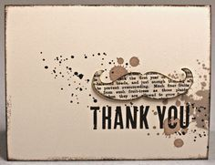 Here's a masculine thank you card for the dude in your life!  A mustache framelit die using newspring paper has been popped up on top of Gorgeous Grunge stamping.  Handmade card.