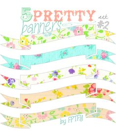 Free Digital Images: Pretty Printable Banners Set #2