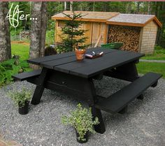 Chalkboard picnic table.