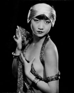 """Wong Liu Tsong (Frosted Yellow Willows) stage name: Anna May Wong: (1905-1961) the first Chinese-American film star made 50 films including """"The Toll of the Sea."""""""