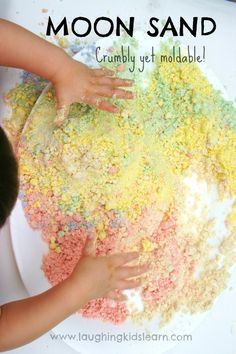 How to make moon sand for play.