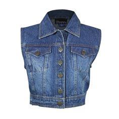 Pink Cattlelac Women's Denim Vest  #womensapparel #jeans