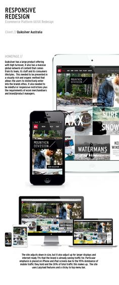 Quiksilver Responsive Redesign by Andrew Strack, via Behance