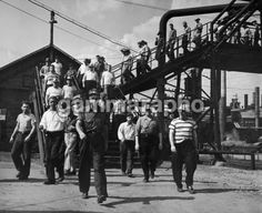 Steel workers in Youngstown, Ohio