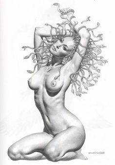 #medusa #art by Boris Vallejo.