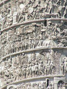 Reliefs on the Column of Marcus Aurelius.