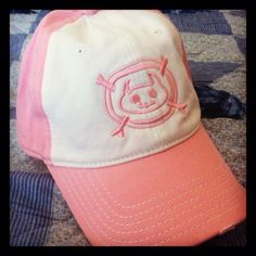 Eulb pink distressed cap