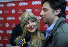 "Kate Hudson and Zach Braff on the 2014 Sundance red carpet for ""Wish I Was Here."" (Scott Sommerdorf 