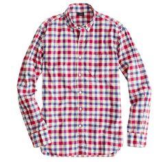 Secret Wash shirt in Danbury red check/