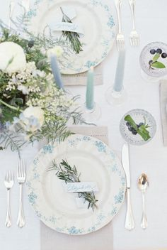 Land and Water: Blue Wedding Ideas