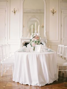 #white tablescape with blush blooms | photography by www.milton-photography.com