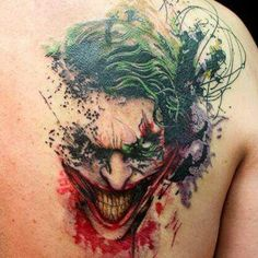 Awesome joker tattoo. M??s