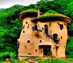 fairies, green roof, roofs, fairy tales, dream hous, homes, design, cob houses, mushrooms