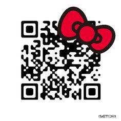 QR code SWAROVSKI/HELLO KITTY (Japan) qr code, hellokitti