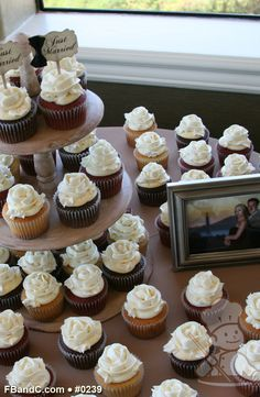 Design W 0239 | Assorted Butter Cream Topped Cupcakes | Custom Quote