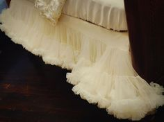 RESERVED listing for kuppusamy  Pettiskirt Crib  by DreamSpunKids, $149.99