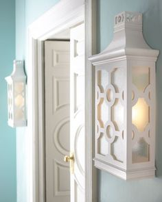 Love these pagoda sconces