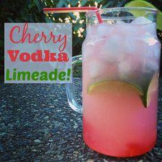 Cherry Vodka Limeade #Drink #Vodka