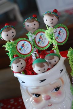 ELF PARTY  elf cake pops