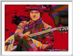 stripe larg, the white stripes, roll art, art prints, rock star, 15 rock, jack white, larg rock, stripe art