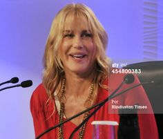 Daryl Hannah at the Hindustan Times Leadership Summit on December 6, 2013 in New Delhi, India. (Photo by Mohd Zakir/Hindustan Times via Getty Images)