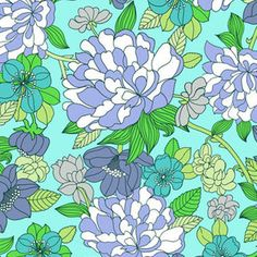 Liberty of London House Designer - Bloomsbury Gardens - Copeland in Pale Blue
