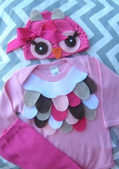 Super cute owl costume-perfect for baby's first halloween or newborn pictures. $40.00, via Etsy.