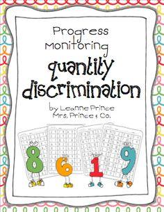 Quantity Discrimination Worksheets