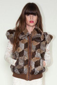 Patchwork fur vest. $88.00, via Etsy.