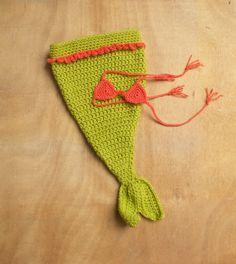 Mermaid Baby Girl Crochet Costume, HYSTERICAL!! $38.00
