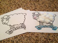 Red Yarn - The Good Shepherd Sheep Craft
