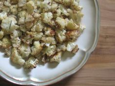 roasted cauliflower with garlic and rosemary