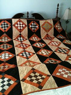 halloween quilts, pattern, colors, down south, color combinations, fall quilts, blue quilts, orange crush, halloween color