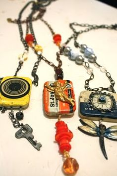In My Blue Room: Vintage Pill Tin Necklaces